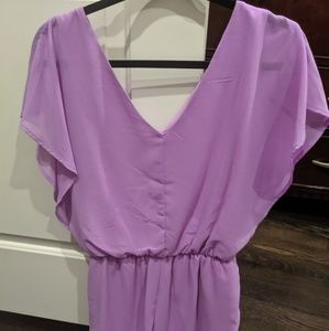 GB One Piece Purple Romper with Pockets Medium